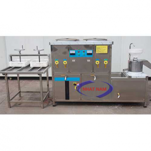 Bộ dây chuyền SX đậu phụ liên hoàn FS-500A (NNTP-M22)theo quy trình tự động từ a - z máy làm đậu phụ tự động chính là thiết bị bạn cần.