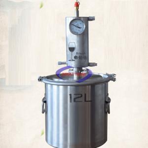 Máy chưng cất tinh dầu 12 lít (NNCC-01) Đây là loại chưng cất các loại tinh dầu, nước hoa từ thực vật, hoa, lá, vỏ, gỗ thực vật như tinh dầu tràm, xả, tần dày lá, chanh, cam quýt, tinh dầu bạc hà, tinh dầu trầm, tinh dầu quế, vỏ bưởi, nước hoa hồng vv…