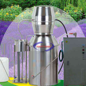 Máy chưng cất tinh dầu 100 lít (NNCC-07)là dòng máy chưng cất tinh dầu hàng đầu áp dụng phương pháp chưng cất bằng hơi nước để lấy tinh dầu