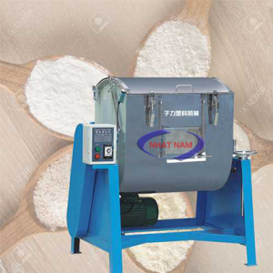 Máy trộn bột khô MH-200 có cửa xả (NNTB-40)là máy công suất lớn,nằm ngang,khoang trộn rộng. Được ứng dụng rộng rãi không chỉ dùng trộn bột mà còn có thể trộn nhiều loại thực phẩm khác như: thịt, rau quả,...