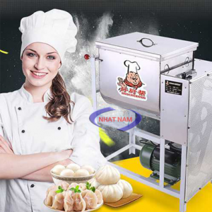 Máy trộn bột nằm ngang 25kg (NNTB-07)là sản phẩm hỗ trợ người thợ làm bánh thay cho việc trộn bánh một cách thủ công, mất nhiều thời gian  – Bạn có thể sử dụng một chiếc máy trộn bột để nhào bột, trộn bột giúp cho việc làm bánh dễ dàng hơn rất nhiều, bột được trộn nhanh hơn, đều hơn, mịn hơn.