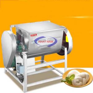 Máy trộn bột nằm ngang 100 lít (NNTB-23)là một dòng máy trộn bột cỡ lớn do công ty Nhật Nam nhập khẩu.  – Máy có thể trộn bột với khối lượng lớn trong khoảng thời gian ngắn, chất lượng bột mịn, dẻo.