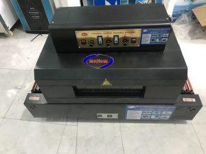 Máy co màng BS 400 x 350 (NNCM-A07)  – Hệ thống khung, vỏ máy được thiết kế bằng chất liệu thép chất lượng cao, sơn tĩnh điện an toàn cao cho người vận hành máy