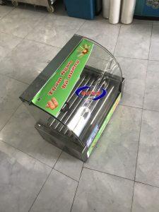 Máy nướng xúc xích 5 thanh kính cong (NNXX-C01)  – Là dòng máy mới, thông dụng, chuyên dùng để nướng các loại xúc xích., nướng chín đều