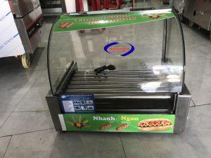 Máy nướng xúc xích 7 thanh kính cong (NNXX-C03)được cung cấp, chuyên dùng để nướng các loại xúc xích., nướng chín đều.