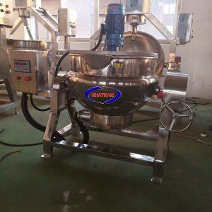 Nồi nấu công nghiệp 500 Lít (NNCN-E07)  đượcthiết kế với công nghệ hoàn toàn mới.  – Toàn bộ thiết bị máy được làm bằng inox chất lượng cao nên đảm bảo chất lượng về an toàn thực phẩm