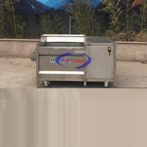 Máy rửa củ quả 300 kg/h (NNCQ-C02)được dùng để làm sạch và chà vỏ các loại củ quả nông sản như: Khoai tây, khoai lang, cà rốt, củ nghệ, củ gừng, củ riềng, củ dong, các loại rau, các loại quả…