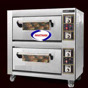 Lò nướng bánh pizza 2 tầng công nghiệp (NNLQ-A15) Ưu Điểm : Công nghệ nướng nhiệt tĩnh – nhiệt trên nhiệt dưới lan tỏa khắp lò giúp bánh chín đều mà không bị xẹp.  Lên nhiệt chuẩn, điều chỉnh nhiệt độ linh hoạt.  Tự động hoàn toàn, không phải trở khay, hẹn giờnướng bánh.  Thiết kế cách nhiệt giảm hao phí nhiệt năng.
