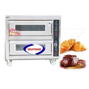 Lò nướng bánh 2 tầng 2 khay (NNLQ-A10)là loại lò nướng thích hợp dùng để nướng bánh ngọt, bánh trung thu, bánh pháp và các sản phẩm tương tự khác..