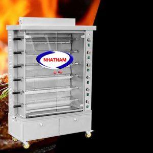 Lò nướng vịt 6 xiên dùng gas ( NNLQ-A24) Vịt quay bằng gas đảm bảo được vệ sinh an toàn thực phẩm,không bị bám bụi than như quay vịt bằng than