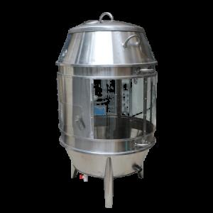 Lò quay vịt dùng than có kính phi 80cm (NNLQ-A01) là mẫu lò quay vịt được thiết kế mới với nhiều cải tiến vượt bậc trong công nghệ sản xuất thân lò quay vịt . Giải pháp mới giúp cho các nhà hàng vịt quay cần không gian trưng bày sản phẩm và chế biến tại chỗ.