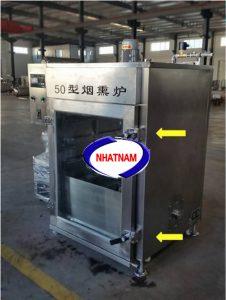 Lò xông khói 50 kg (NNLXK-03) là thiết bị cần thiết trong các cơ sở sản xuất xúc xích, thịt bò, thịt trâu hun khói..