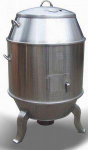 lò quay vịt dùng than 90 cm (NNTP-I08)do Công Ty Nhật Nam sản xuất đúng theo tiêu chuẩn lò quay vịt Bắc Kinh với 2 lớp cách nhiệt vừa giữ được nhiệt độ vừa không hề gây nguy hiểm cho người đầu bếp.Ưu điểm khi quay vịt bằng lò quay vịt inoxnày là vịt chín đều, không bị khô và quan trọng hơn nữa là giữ được hương vị tẩm ướp vịt.
