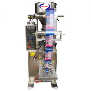 Máy đóng gói tự động 10-100 gam (NNĐG-A18)là loại máy chuyên dùng để đóng gói, bảo quản thực phẩm  – Chức năng chính của máy là thực hiện chủ yếu 2 chức năng: giúp cho nhà sản xuất hoàn thiện bao bì, đảm bảo được số lượng của sản phẩm, định khối lượng sản phẩm.