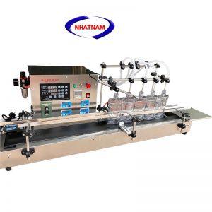 Máy chiết rót dung dịch 4 vòi (NNDC-A20)là dòng máy chiết rót dạng lỏng 4 vòi tựđộng.  – Thiết bị dùng để chiết rót các loại dung dịch lỏng, cho độ chính xác cao, có thể thể làm việc liên tục.