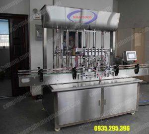 Máy chiết rót dung dịch sệt tự động (NNDC-D15)là thiết bị chuyên dùng để chiết rót các dung dịch đặc, sệt, được dùng phổ biến trong ngành thực phẩm, dược phẩm, hóa chất..