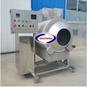 Máy rang hạtđiềudùng điện 50 kg/mẻ (NNRH-22)Đây là dòng máy mới, được làm hoàn toàn bằng inox– Rất tiện lợi cho các sản phẩm rang hạt có kèm theo các chất ăn mòn như muối, nước chua…– Là một trong những thiết bị quan trọng được thiết kế tối ưu về chế biến thực phẩm– Máy có thể thay thế rất nhiều lao động lành nghề làm việc cùng một thời điểm– Đảm bảo vệ sinh an toàn thực phẩm khi chế biến.