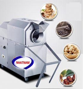 Máy rang hạt XL dùng gas 10-15 kg/mẻ (NNRH-03)ứng dụng tốt trong sấy các sản phẩm dạng hạt, viên như: Ngô, Đỗ, Lúa, Gạo, Hạt cốm trong dược phẩm, thực phẩm, sản phẩm dạng viên, đặc biệt là dùng dể sấy muối hạt cho sản phẩm chất lượng cao....