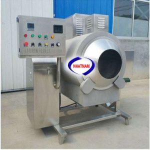 Máy rang hạt dùng điện 30kg/mẻ (NNRH-14)– Đây là dòng máy mới, được làm hoàn toàn bằng inox, rất tiện lợi cho các sản phẩm rang hạt có kèm theo các chất ăn mòn như muối, nước chua...– Là một trong những thiết bị quan trọng được thiết kế tối ưu về chế biến thực phẩm– Máy có thể thay thế rất nhiều lao động lành nghề làm việc cùng một thời điểm, đảm bảo vệ sinh an toàn thực phẩm khi chế biến.
