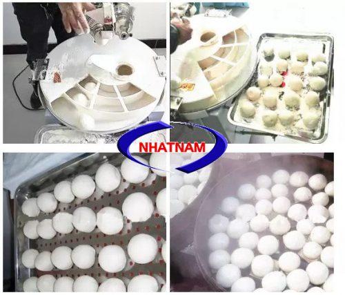 Máy chia bột tròn làm bánh đơn giản dễ dàng