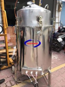 Nồi nấu rượu bằng điện 20kg/mẻ (inox) (NNCN-D01)