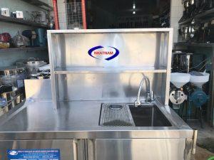 Quầy pha chế inox 1.5m (NNTQ-B02) là sản phẩm không thể thiếu trong các nhà hàng,quán bar, quán trà sữa..