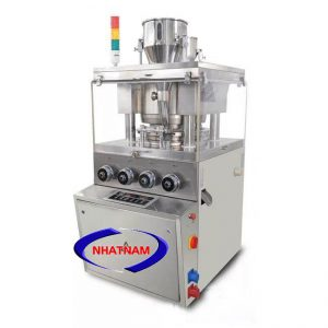 Máy dập viên thuốc 5 chày (NNND-D09) chuyên dùng để ép các nguyên liệu dạng bột, hạt thành các viên thuốc có hình dạng khác nhau.  – Máy chuyên dùng trong ngành dược như sản xuất thuốc tây, đông y. Được các cơ sở sản xuất, doanh nghiệp tin dùng.