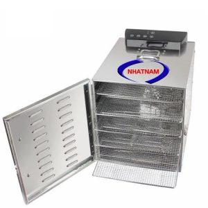 Tủ sấy thực phẩm gia đình 6 khay ( NNTS-01)là thiết bị chuyên dùng để sấy khô các loại hoa quả như nho khô, táo khô…, các loại hạt, thực phẩm.