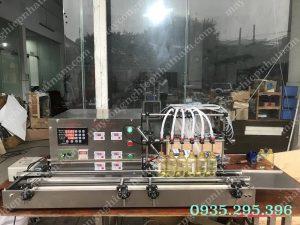 Máy chiết rót dung dịch lỏng 8 vòi (NNDC-D14)  – Máy phù hợp trong ngành công nghiệp dược phẩm, công nghệ sinh học, mỹ phẩm, hóa chất…