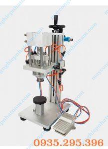 Máy đóng nắp chai nước hoa bán tự động (NNDC-C02)có chức năng đóng, xoáy nắp vặn ren chai nước hoa, tinh dầu sử dụng trong ngành mỹ phẩm, dược phẩm....