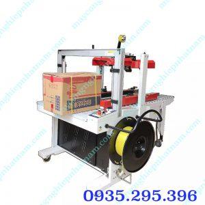 Máy dán băng dính và đai thùng tự động (NNDBD-A08)  Máy là sản phẩm không thể thiếu trong ngành inấn, thực phẩm, dược phẩm...