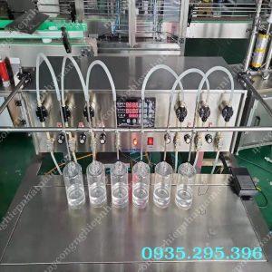 Máy chiết rót 7 vòi bán tự động (NNDC-D20)là thiết bị chuyên dùng để chiết rót các loại dung dịch lỏng như rượu, chiết rót tinh dầu, dầu ăn, chiết rót hóa chất và các loại dung dịch lỏng khác.