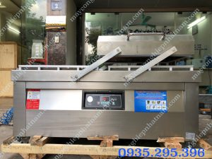 Máy hút chân không thực phẩm hai buồng DZQ-800 (NNMH-B45)  – Máy là sản phẩm không thể thiếu trong ngành thực phẩm,đóng gói...  – Toàn bộ máyđược làm inox cao cấp chống han gỉ,độ bền cao.