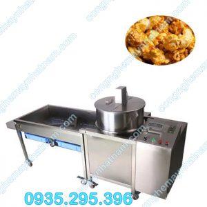 Máy làm bắp rang bơ công nghiệp có giá đổ (NNBRB - 09) năng suất cao - chất lượng ổn định - giá thành hợp lý.