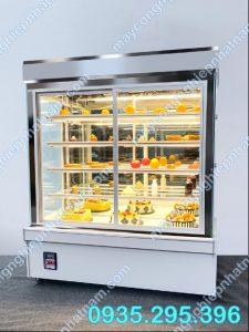 Tủ trưng bày bánh kem 5 tầng (NNTQ - A08) Là sản phẩm không thể thiếu trong các cơ sở làm bánh  Chuyên dùng để trưng bày và bảo quản các loại bánh như bánh ngọt, bánh kem, bánh gato...