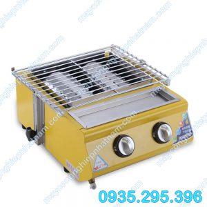 Bếp nướng gas 2 điều chỉnh (NNBN-02) Là sản phẩm không thể thiếu trong các quán ăn ngoài trời, nhà hàng....