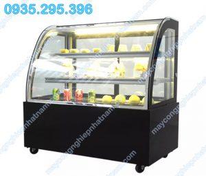 Tủ trưng bày bánh kem kính cong 3 tầng (NNTQ - A05)là loại tủ trưng bày bánh kem, bánh gato, bánh trung thu...