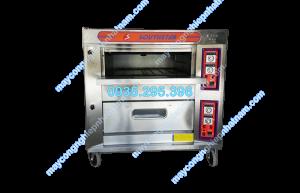 Lò nướng bánh 2 tầng 4 khay dùng gas (NNLQ - A39) chuyên dùng để nướng các loại bánh ngọt, bánh trung thu, bánh mì...