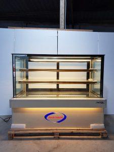Tủ trưng bày bánh kem 3 tầng kính đứng (NNTQ-A04) chuyên dùng để trưng bày bánh kem, bánh ngọt, bánh gato....