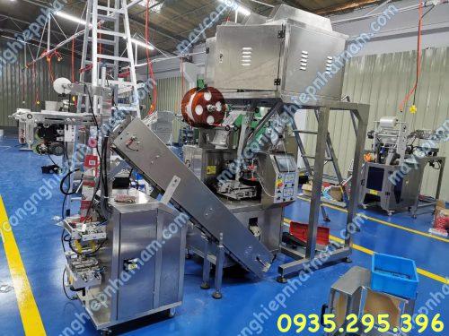 Máy đóng gói túi lọc 2 lớp hàn siêu âm