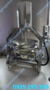 Nồi nấu có cánh khuấy lệch tâm 100 lít năng suất cao - hoạt động ổn định !